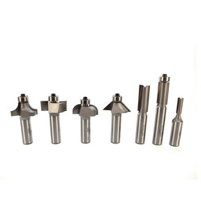 "7-Piece Basic Router Bit Set, 1/2"" Shanks, Model 401"