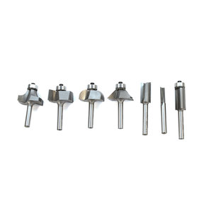 "7-Piece Basic Router Bit Set, 1/4"" Shanks, Model 402"