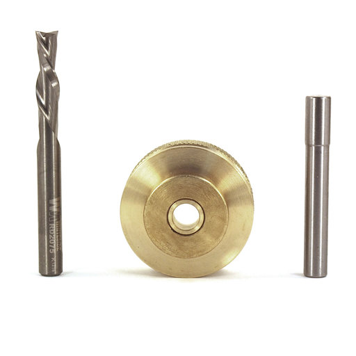 """View a Larger Image of 9501 Solid Brass Inlay Set, 1/4"""" D"""