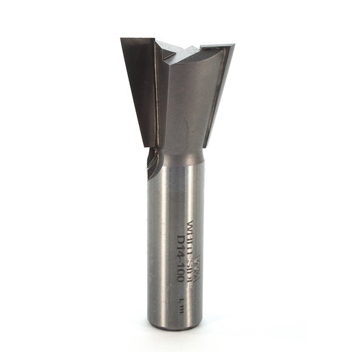 """View a Larger Image of D14-100 Dovetail Router Bit 14 Degree 1/2"""" SH 1"""" D x 7/8"""" C x 2-1/2"""" OL"""
