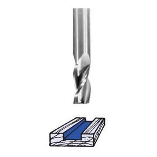 """View a Larger Image of RU5125T Three Flute Up Cut Spiral Router Bit 1/2"""" D X 1-1/4"""" CL 1/2"""" SH 3"""" OL"""