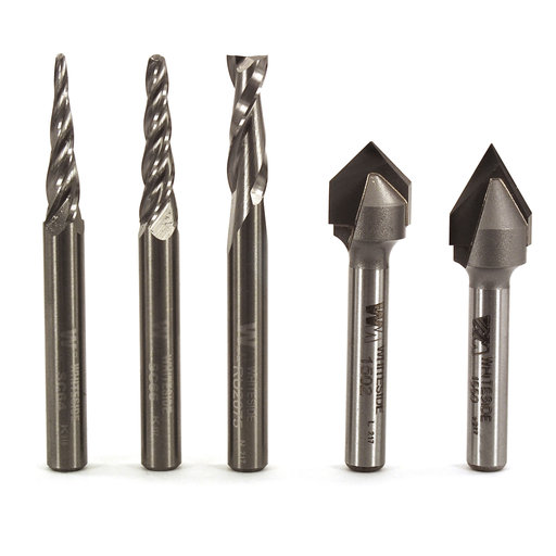 "View a Larger Image of 705 1/4"" SH Starter CNC Router Bit Set"