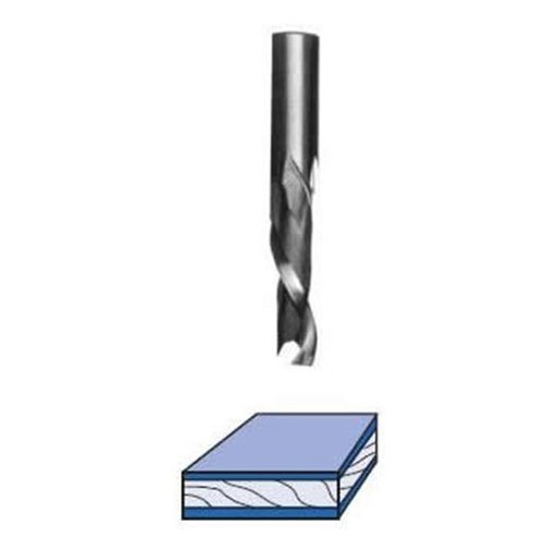 """View a Larger Image of UD5122 Up/Down Cut Spiral Router Bit Mortise Style 1/2"""" D X 1-1/4"""" CL 1/2"""" SH 3"""" OL"""