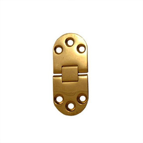 """Wide Table Hinge, Polished Brass, 2-3/4"""" L x 1-3/16"""" W, Pair, Requires No. 6 Screws Not Included"""