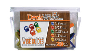 WiseGuides Decking Board Gap Spacers, Assorted, 20 pieces