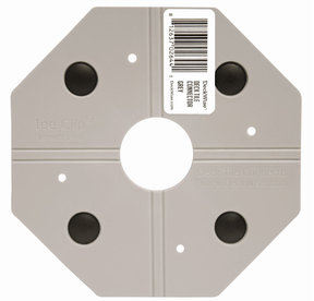 WiseTile Deck Tile Connector, Concrete Grey, 1 Connector