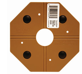 WiseTile Deck Tile Connector, Hardwood Brown, 1 Connector