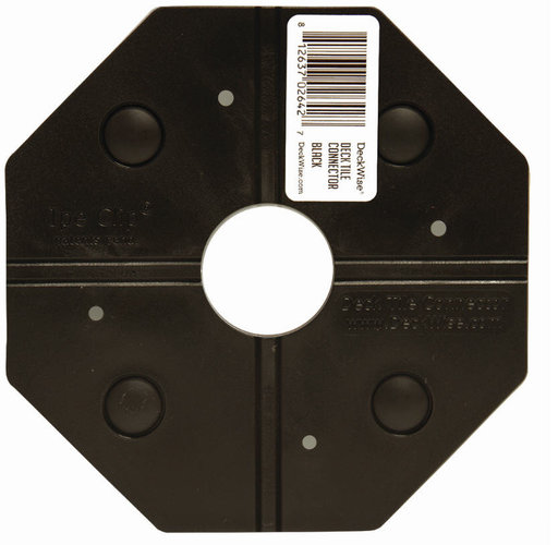 View a Larger Image of WiseTile Deck Tile Connector, Shadowline Black, 1 Connector