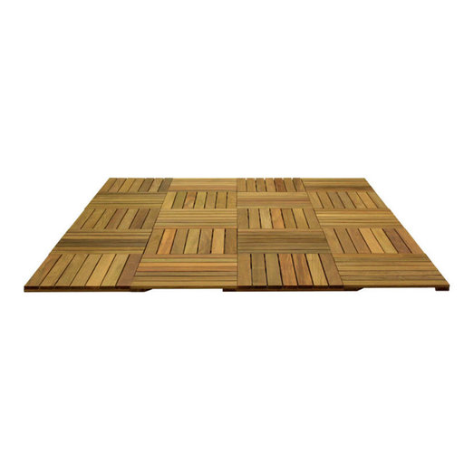 View a Larger Image of WiseTile Hardwood Deck Tile Starter Kit, Exotic Ipe Hardwood, 6.6 ft. x 8.3 ft. x 55 Sq. ft., 20 Count