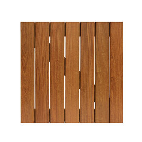 WiseTile Solid Hardwood Deck Tile, Exotic Ipe, Smooth, 1 Tile, 20 in. x 20 in.