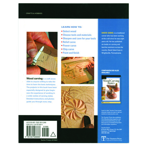 View a Larger Image of Wood Carving Basics