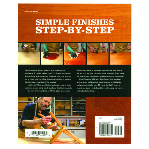 View a Larger Image of Wood Finishing 101