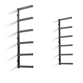 Wood Rack 6 Tier - Gray/Black