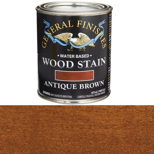 View a Larger Image of Wood Stain, Water Based, Antique Brown Stain Pint
