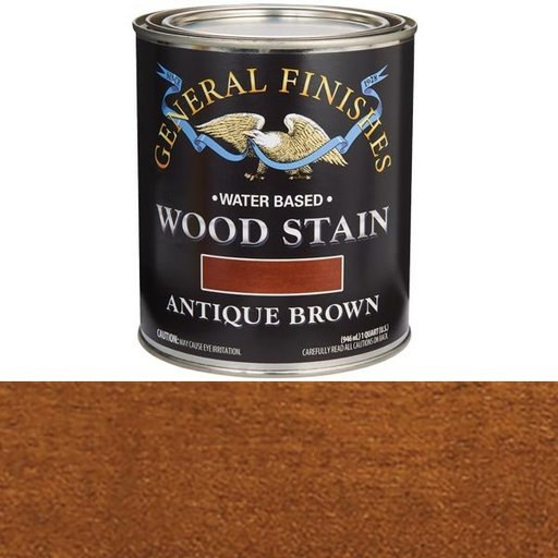 View a Larger Image of Wood Stain, Water Based, Antique Brown Stain Quart
