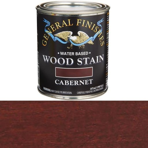 View a Larger Image of Wood Stain, Water Based, Cabernet Stain Pint