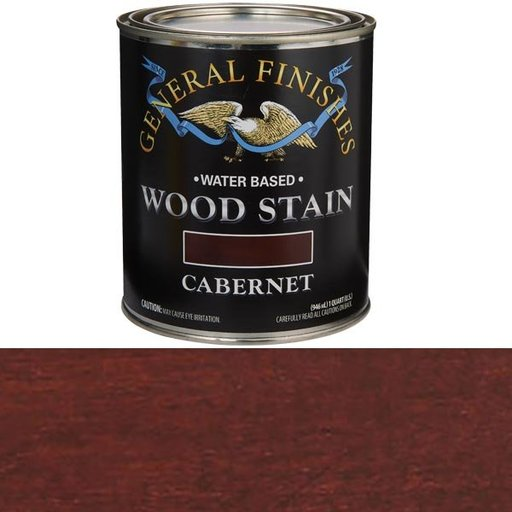 View a Larger Image of Wood Stain, Water Based, Cabernet Stain Quart