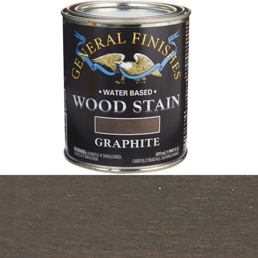 View a Larger Image of Wood Stain, Water Based, Graphite Stain Pint