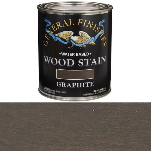 View a Larger Image of Wood Stain, Water Based, Graphite Stain Quart