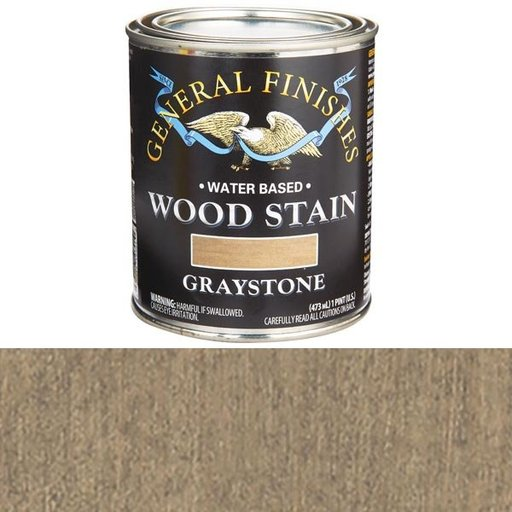View a Larger Image of Wood Stain, Water Based, Graystone Stain Pint
