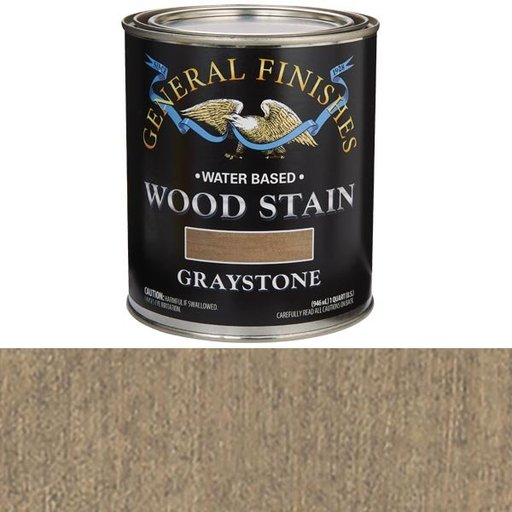 View a Larger Image of Wood Stain, Water Based, Graystone Stain Quart