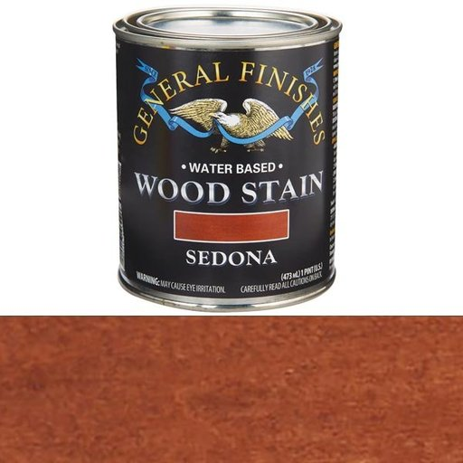 View a Larger Image of Wood Stain, Water Based, Sedona Stain Pint
