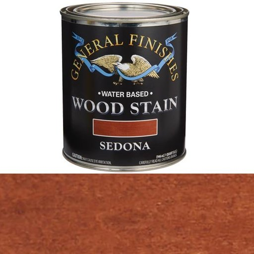 View a Larger Image of Wood Stain, Water Based, Sedona Stain Quart