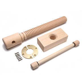 Wood Vise Screw - Premium Kit (Brushed Finish)