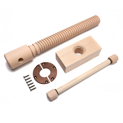 View a Larger Image of Wood Vise Screw - Premium Kit (Vintage Finish)