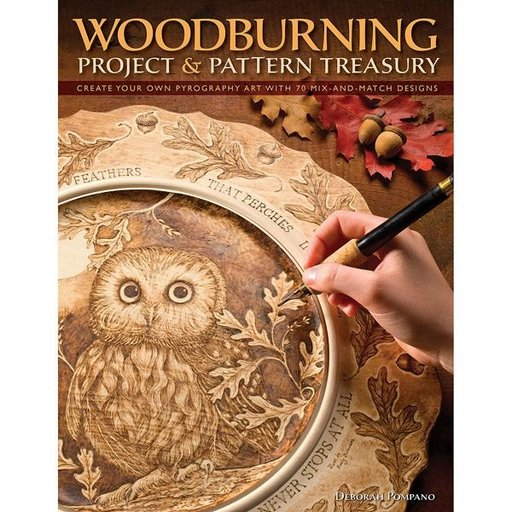 View a Larger Image of Woodburning Project & Pattern Treasury