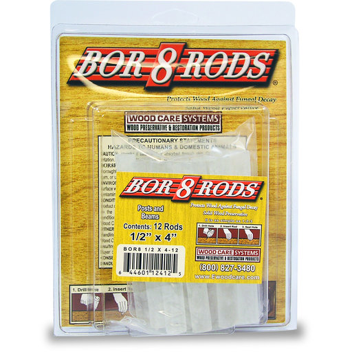 "View a Larger Image of Bor-8-Rods, 1/2"" x 4"", Box of 100"
