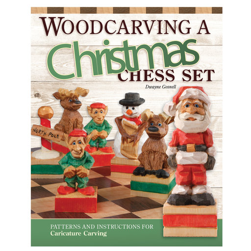 View a Larger Image of Woodcarving a Christmas Chess Set