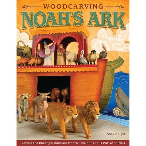 View a Larger Image of Woodcarving Noah's Ark