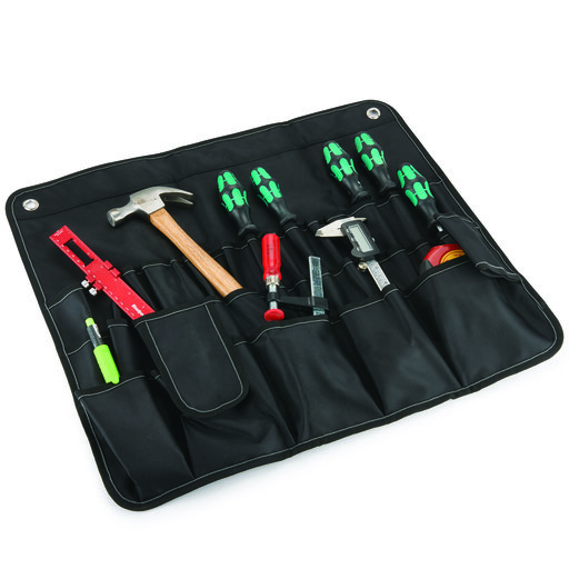 View a Larger Image of 30 Pocket Tool Roll, Black