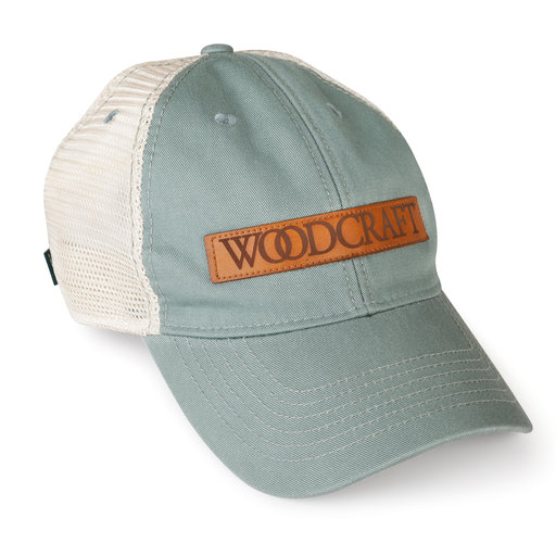View a Larger Image of Woodcraft Leather Patch Hat