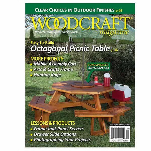 Issue 58 april may 2014 for Fine woodworking magazine discount