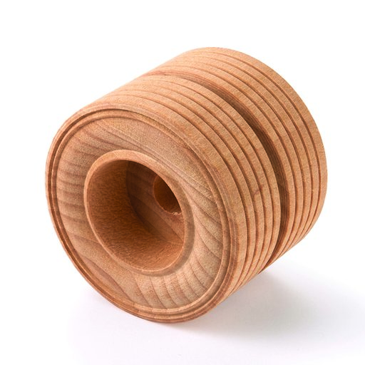 "View a Larger Image of Wooden Dual Truck Wheels, 2"" Dia., 11/16"" W, 3/8"" Axle Hole 1-piece"
