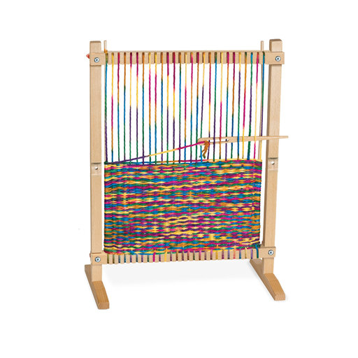 "View a Larger Image of Wooden Multi-Craft Weaving Loom, Arts & Crafts, Extra-Large Frame, Develops Creativity and Motor Skills, 16.5"" H x 22.75"