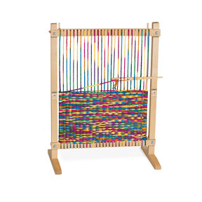 "Wooden Multi-Craft Weaving Loom, Arts & Crafts, Extra-Large Frame, Develops Creativity and Motor Skills, 16.5"" H x 22.75"