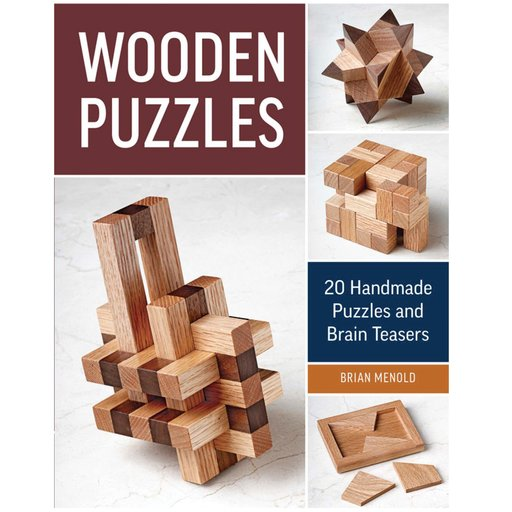 View a Larger Image of Wooden Puzzles: 20 Handmade Puzzles and Brain Teasers