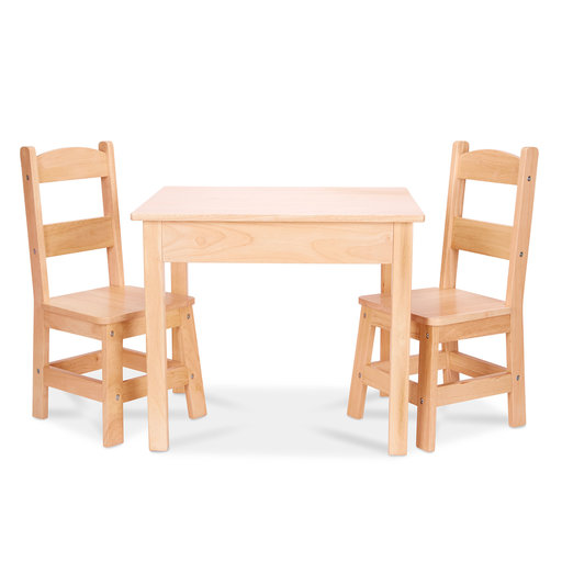 View a Larger Image of Wooden Table & Chairs, Natural