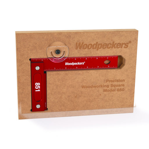 "View a Larger Image of 851 Precision Woodworking Square 8"" x 5"" with Wall-Mountable Storage – Inch Scale"
