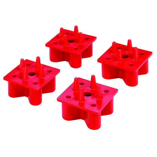 View a Larger Image of X-Mat Assembly System Anchors Red 4pk