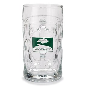 WoodRiver 1-Liter Glass Beer Mug