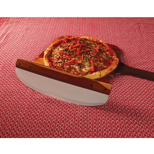 "View a Larger Image of WoodRiver 16"" Rocking Pizza Cutter Kit"