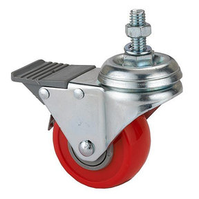 "2-1/2"" Caster Double Locking Swiveling with 3/8"" Threaded Spindle"