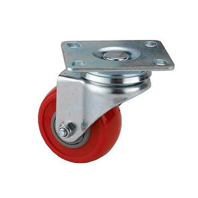"2-1/2"" Caster Non-Locking Swiveling with 4 Hole Mounting Plate 3-3/8"" Tall"