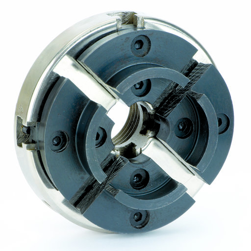 "View a Larger Image of 4 Jaw Lathe Chuck w/Case 1-1/4"" x 8 TPI"