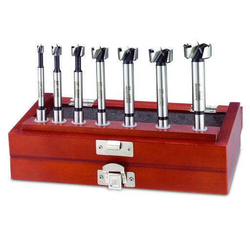 View a Larger Image of 7pc Boxed Forstner Bit Set