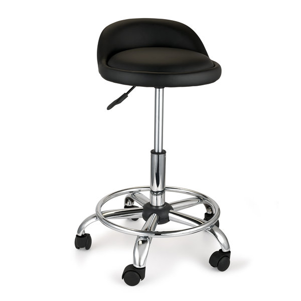 Adjustable Height Shop Stool With Casters And Feet